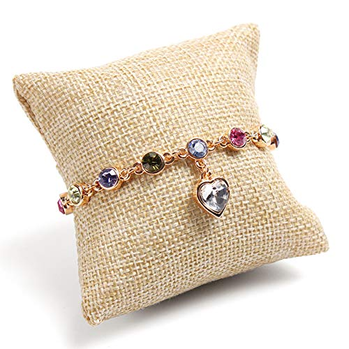Colorsheng 10-Pieces Small Linen Bracelet Watch Pillow Jewelry Displays
