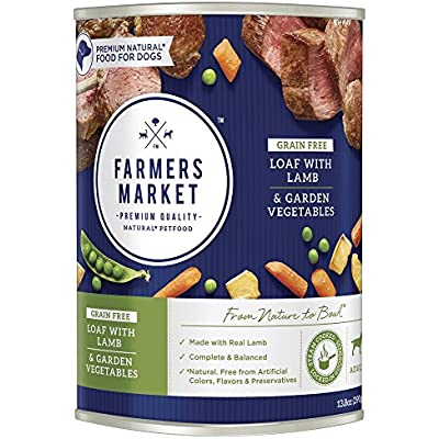 Farmers Market Pet Food Premium Natural Canned Wet Dog Food, 13.8 oz Can (Case of 12)