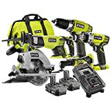 Factory Reconditioned Ryobi ZRP887 18-Volt One+ 5-Piece Lithium-Ion Combo Kit