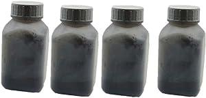 Bottle Toner Powder Refill Laser Color Toner Powder Kit for HP Color Laserjet CP1025 Cp1025NW CP2020 CP2025 CP2025n CP2025dn CP2025x CM2320Laser Printer (40g/Bottle,4 Black)