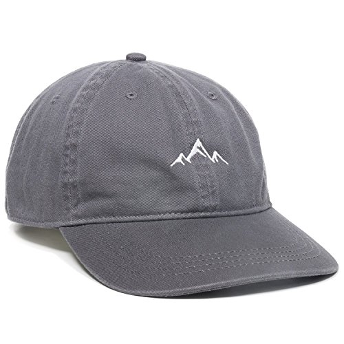 Outdoor Cap -Adult Mountain Dad Hat-Unstructured Soft Cotton Cap, Charcoal, One Size