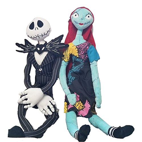 Disney Nightmare Before Christmas 24-26' Plush Poseable Jack& Sally Doll Set