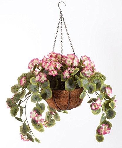 Geranium Planter - Miles Kimball Fully Assembled Geranium Hanging Basket by OakRidgeTM Outdoor