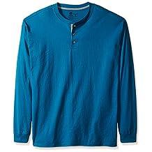 Hanes mens Hanes Men's Long-sleeve Beefy Henley Shirt