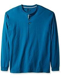 Hanes mens Men's Long-sleeve Beefy Henley Shirt