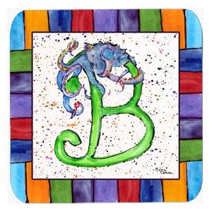 Set of 4 Carolines Treasures 8425-FC Octopus Foam Coasters 3.5 H x 3.5 W Multicolor