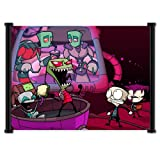 """Invader Zim Fabric Wall Scroll Poster (21"""" x 16"""") Inches"""