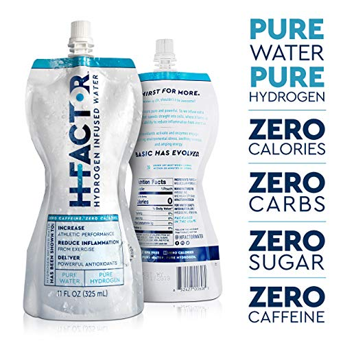 HFactor Hydrogen Infused Pure Drinking Water, Pre Or Post Workout Recovery Drink, 11 Fl Oz (24 Pack), Molecular Hydrogen Supports Athletic Performance Delivers Antioxidant, Packaging May Vary by H Factor (Image #1)