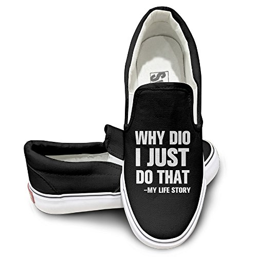 Unisex Why Did I Just Do That High Top Sneakers Canvas Shoes Fashion Sneakers Shoes Trucker Black (Hype Man Costume)