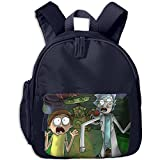 Toddler Kids Rick And Morty Preschool Lunch Bag Navy