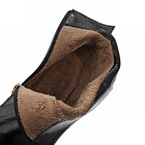 Mee Shoes Damen Plateau mit Strass Reißverschluss high heels Ankle Boots Schwarz