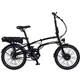 Pedego Latch Folding Electric Bicycle - Black - 36v 10Ah Battery