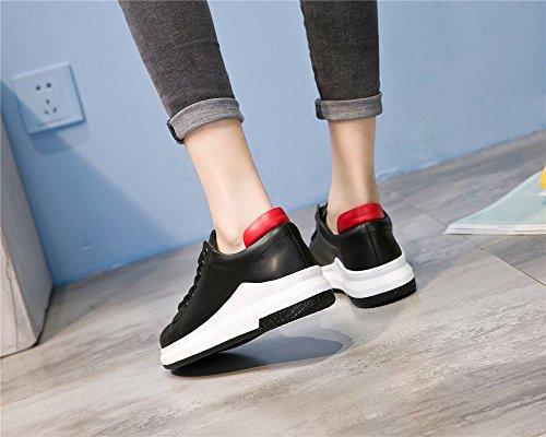 Neue Kleine Lace Damenschuhe Schuhe Gehen 36 Winter Leder Reisen Freizeitschuhe B Schuhe Mischfarben Einkaufen Herbst Athletische Flache Zum Up Weiße Damen BAww0dq