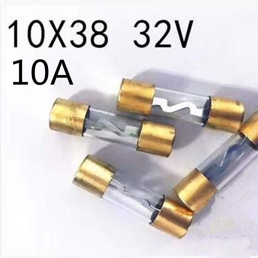 Gold-Plated Fuse AGU 5AG 1038 MM 10A Car Sound Fuse Glass 5pcs/lot