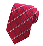 Tootless Mens Business Modern More Choice Polyester Silk Plaid Necktie 14 OS
