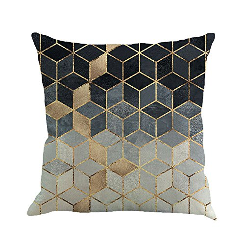 GOVOW Couch Cushion Covers for Individual Cushions Geometric Painting Linen Throw Pillow Case Sofa Home Decor ()