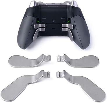 TOMSIN 4 Piezas de remos de Metal de Acero Inoxidable y gatillos de Pelo para Xbox One Elite Controller (2 Mediano y 2 Mini): Amazon.es: Electrónica