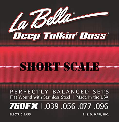LaBella 760FX-S Short Scale Deep Talkin' Bass Electric Guitar String Set