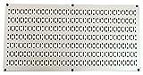 Wall Control 30-HP-1632 BE 16'' x 32'' Horizontal Beige Metal Pegboard Tool Board Panel