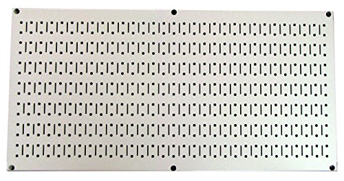 Wall Control 30-HP-1632 BE 16'' x 32'' Horizontal Beige Metal Pegboard Tool Board Panel by Wall Control