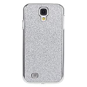 HJZ Shimmering Silver Glitter Hard Back Case Cover for Samsung Galaxy S4 I9500