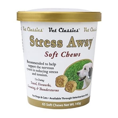 low-cost 2 Pack! Vet Classics Stress Away Soft Chews for Dogs and Cats (130 Chews Total)
