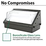 LED Wall-Pack Photo Cell Glass Lens- 100W 5000K