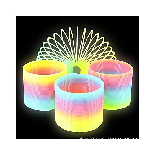 3'' Glow-In-The-Dark Coil Spring (With Sticky Notes) by Bargain World