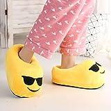 BP@ Pantofole peluche coperta pantofole a casa d'inverno per gli uomini e le donne pantofola smiley peluche Emoji Slipper Natale.