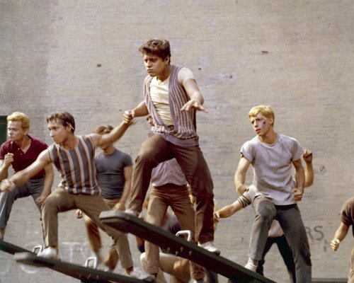 West Side Story cast dancing an see saw 8x10 HD Aluminum Wall Art