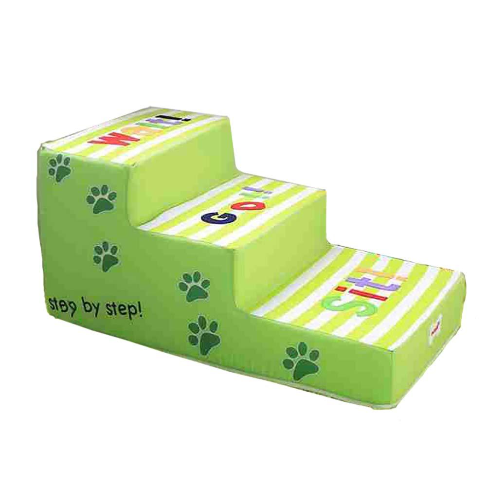 Cani Scale BSNOWF Scala Per Cani verde Scaletta Per Animali Con 3 Gradini Scaletta Per Animali Con Piccolo Gradino