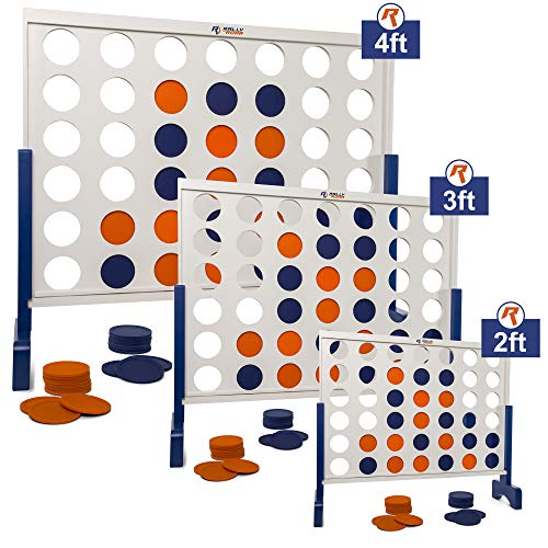 51tG3IJX6kL - Giant 4 in A Row, 4 to Score with Carrying Bag - Premium Wooden Four Connect Game Set in 3' White Wood by Rally & Roar - Oversized Family Outdoor Party Games for Backyard, Lawn, Parties, Bar Game