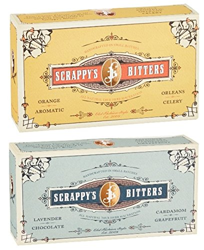 Scrappy's Bitters Classic and Exotic Gift Set Bundle (Booze Traveler Best Bars)