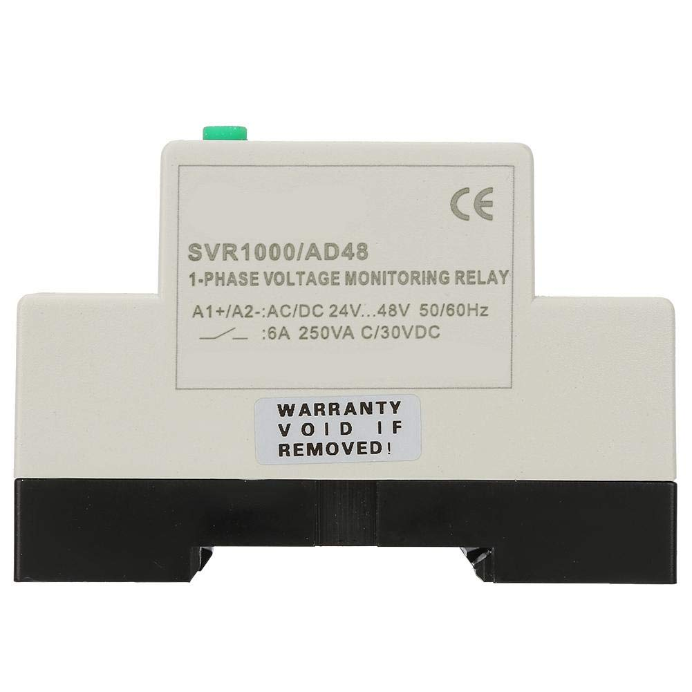 Single Phase Overvoltage and Undervoltage Protector SVR1000 Protection Relay 35mm Guide Rail for Electric Motor AD48