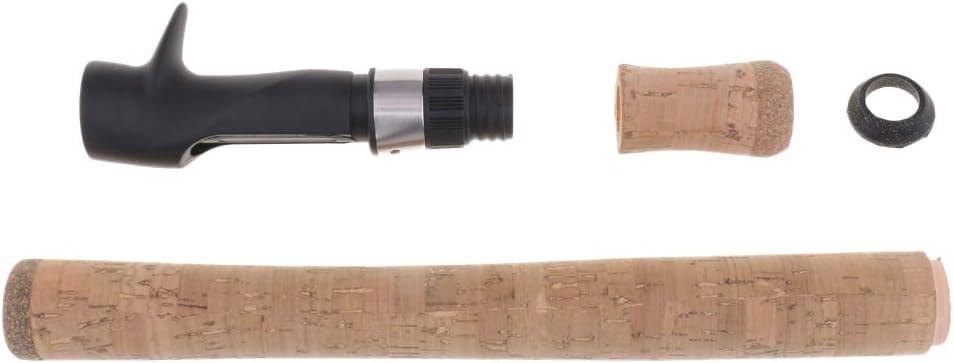 Homyl 1 Satz Angelruten Griffsatz Komposit-Korkgriff mit Rollenhalter f/ür Rutenbau oder Stabreparatur