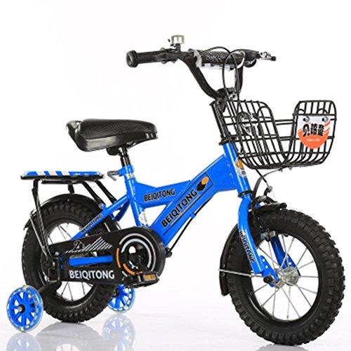 子供の自転車、少年の自転車の女の子クリエイティブ自転車有人自転車後部座席がある衝撃安全自転車足首自転車を減らす (色 : 青, サイズ さいず : 100CM) B07D2FCC7J 100CM|青 青 100CM