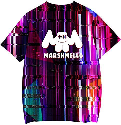 Cappuccio Uniforme Camouflage Maglietta Elettrico Sorridente Baseball Felpa Emilyle Donna Marshmello Da Suono Dj Stampa Hoodie Edm Faccia Con qx8AR8wt