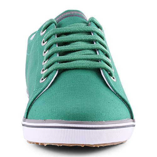 Verde Perry Hombre Cordones Kingston Oxford oscuro para de Twill Zapatos Fred zwdx8qq7