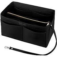 Felt Purse Handbag Organizer Insert Multipocket Linner Organizer 13 Pockets Bag in Bag Backpack Travel Storage Pockets Black Medium