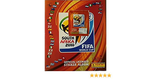 41e6e8fa5 Panini 2010 World Cup South Africa Empty Sticker Album. 8-Sticker Pack  Affixed! at Amazon's Sports Collectibles Store
