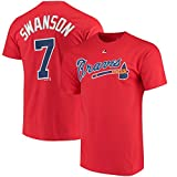 OuterStuff Dansby Swanson Atlanta Braves #7 Youth Player Name & Number T-Shirt Red
