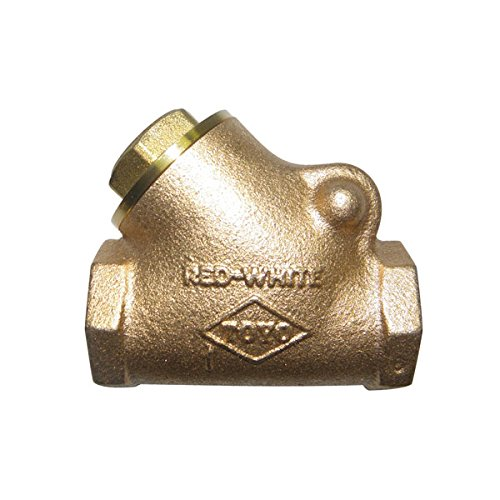 Red-White Valve 2RW236T Bronze Y-Pattern Swing Check Valve Threaded, 2''