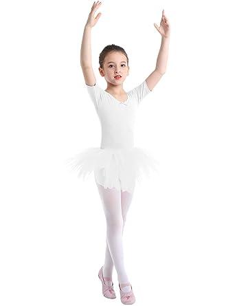 YiZYiF Vestido Tutú Danza Ballet Niñas Maillot Clásico Vestido ...