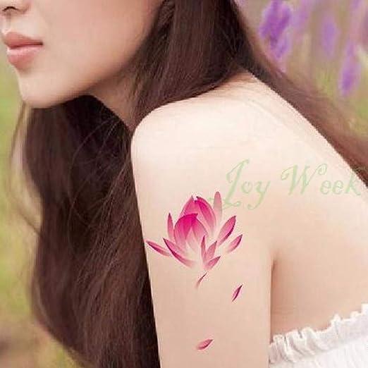 5pcs Impermeable Etiqueta engomada del Tatuaje de Hoja de Loto ...