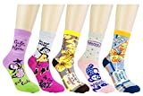 WEILAI SOCKS Womens Fashion Cute Animal Design Colorful Antibacterial Breathable Dress Socks (C5)