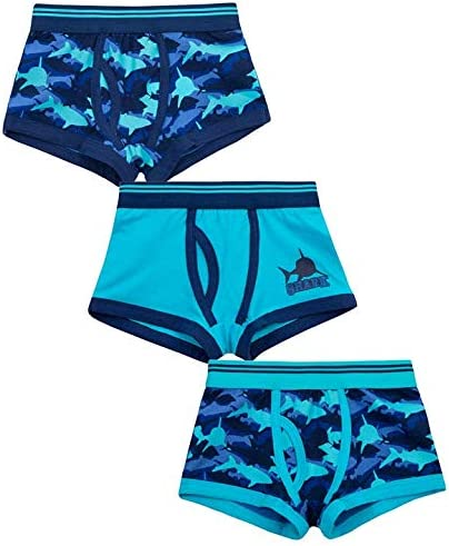 Metzuyan Boys Shark Cotton Rich Boxer Short /& Sock Set