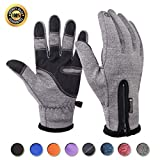 Achiou Touch Screen Gloves for Winter Warm iPhone iPad Bicycling Cycling Driving Anti-Slip Gloves Running Climbing Skiing Outdoor Sports for Men Women