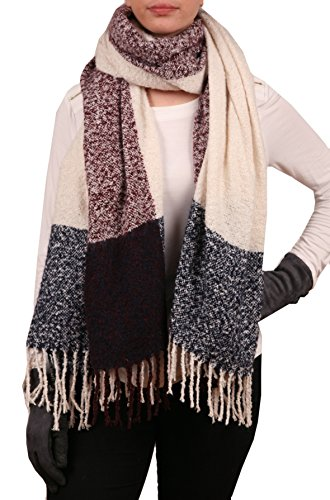 Angora Scarf - LL Blanket Scarf, Cozy, Thick, Bulky Look, Angora Feel, Oblong Soft, Warm Shawl, Scarf, Wrap White, Navy, Burgundy