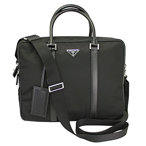 Briefcase Bag Prada (Prada briefcase attaché case laptop pc bag Nylon black)