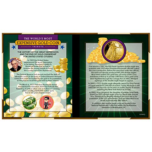(World's Most Expensive Coin Tribute| Coins for Kids | $20 Gold Piece Replica | Saint- Gaudens Design- American Coin Treasures )